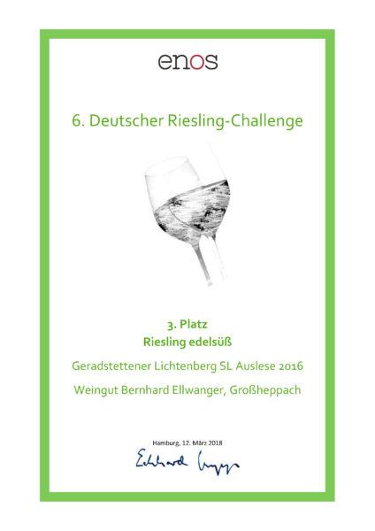 Urkunde_Riesling-süß_Ellwanger