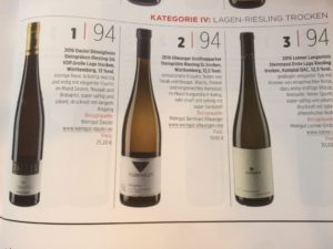2. Platz best of riesling klein